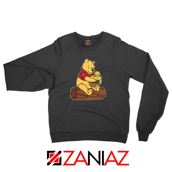 Winnie The Pooh Cartoon Black Sweatshirt