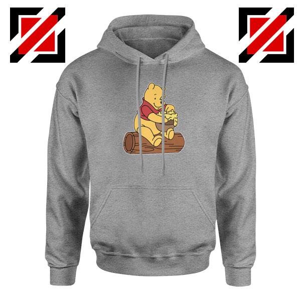 Winnie The Pooh Cartoon Movie Sport Grey Hoodie