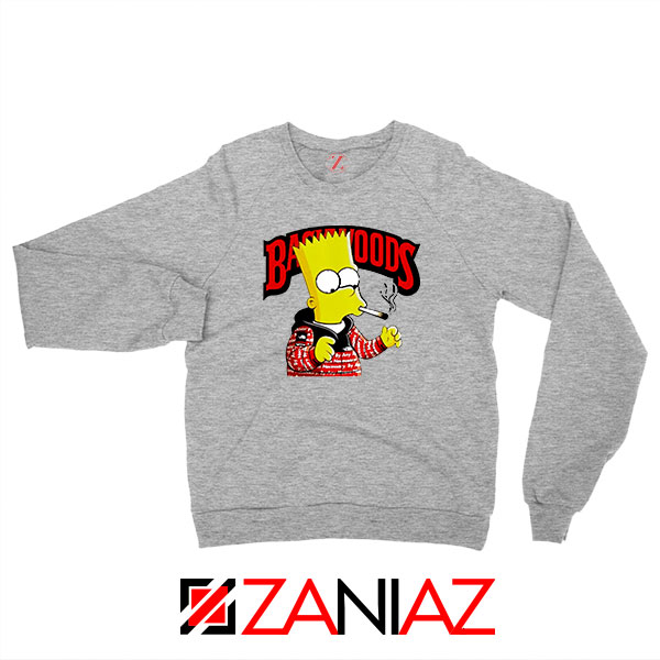 Backwoods Bart Simpson Sport Grey Sweatshirt