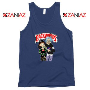 Backwoods Rick and Morty Navy Blue Tank Top