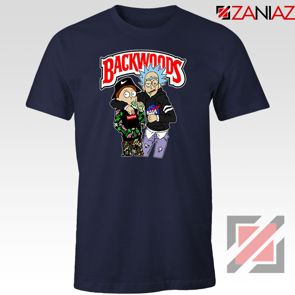 Backwoods Rick and Morty Navy Blue Tshirt