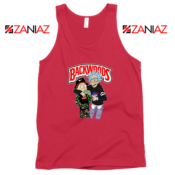 Backwoods Rick and Morty Red Tank Top
