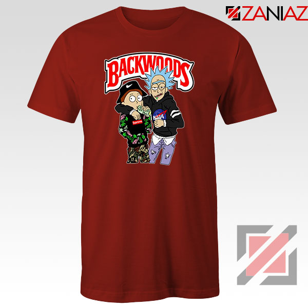 Backwoods Rick and Morty Red Tshirt