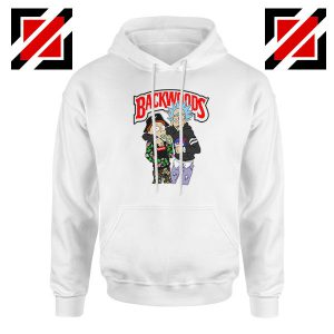 Backwoods Rick and Morty White Hoodie