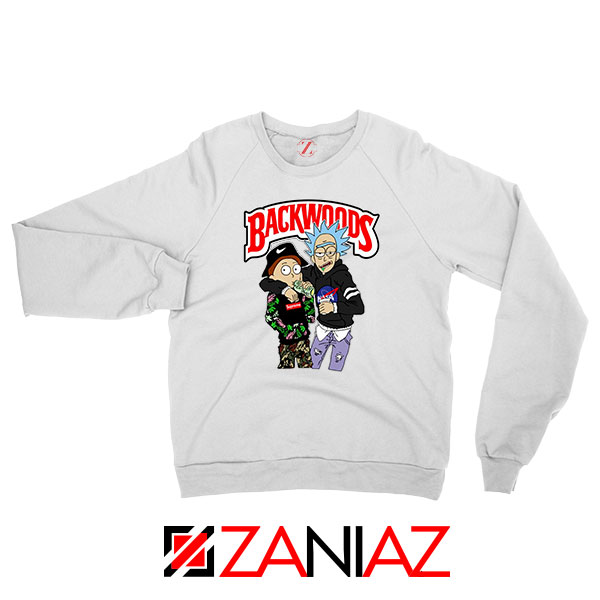 Backwoods Rick and Morty White Sweatshirt