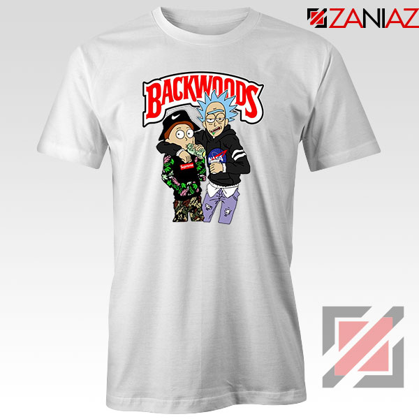Backwoods Rick and Morty White Tshirt