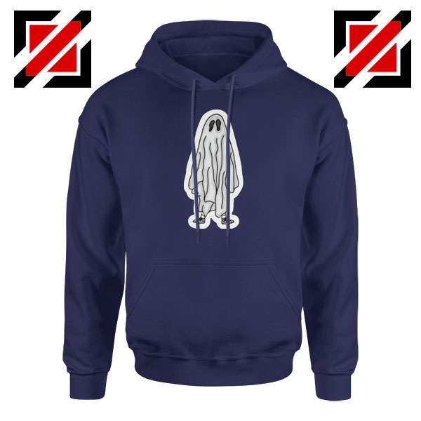 Bed Sheet Ghost Best Navy Blue Hoodie