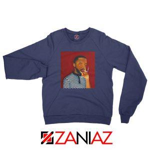 Brent Faiyaz A M Paradox Navy Blue Sweatshirt