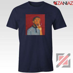 Brent Faiyaz A M Paradox Navy Blue Tshirt