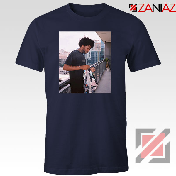 Brent Faiyaz Balcony Best Navy Blue Tshirt