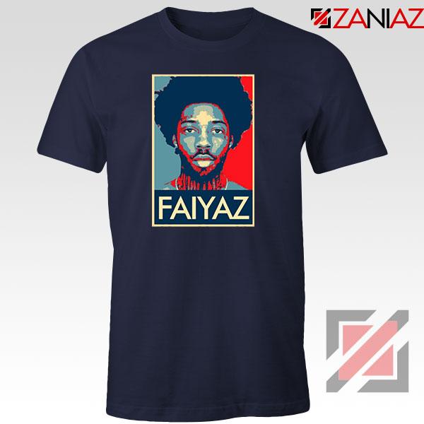 Brent Faiyaz Poster Design Navy Blue Tshirt
