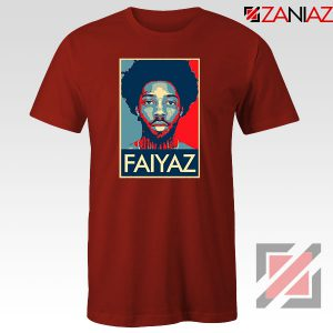 Brent Faiyaz Poster Design Red Tshirt