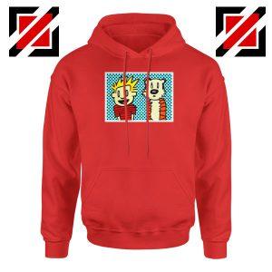 Calvin and Hobbes Cartoon Red Hoodie