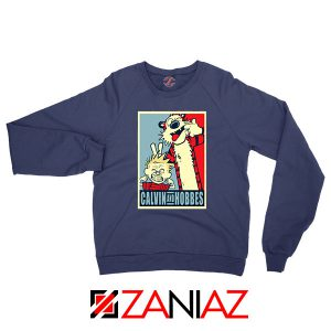 Calvin and Hobbes Smile Navy Blue Sweatshirt