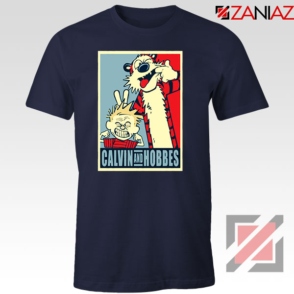 Calvin and Hobbes Smile Navy Blue Tshirt