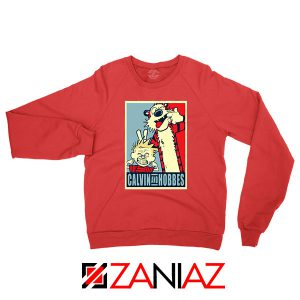 Calvin and Hobbes Smile Red Sweatshirt