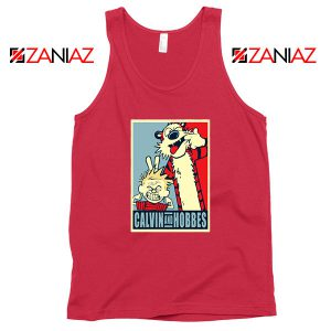 Calvin and Hobbes Smile Red Tank Top