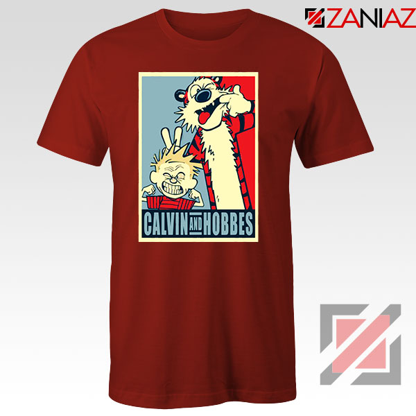 Calvin and Hobbes Smile Red Tshirt