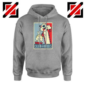 Calvin and Hobbes Smile Sport Grey Hoodie