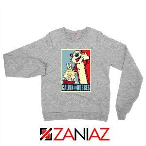 Calvin and Hobbes Smile Sport Grey Sweatshirt