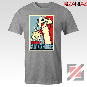 Calvin and Hobbes Smile Sport Grey Tshirt