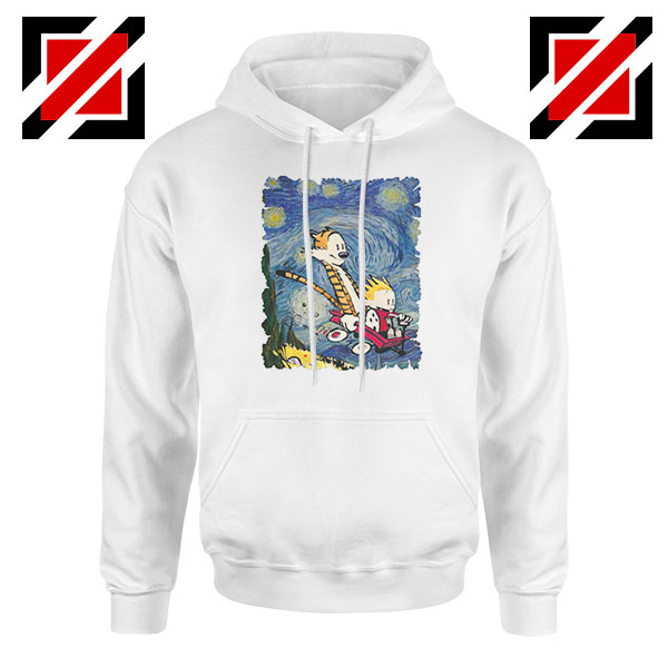Calvin and Hobbes Stary Night Hoodie