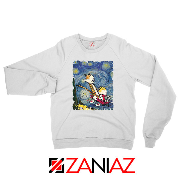 Calvin and Hobbes Stary Night Sweatshirt