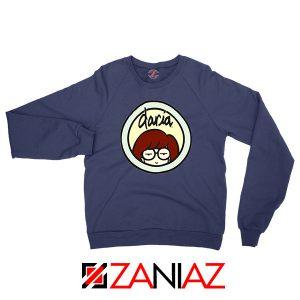 Daria Sitcom Best Navy Blue Sweatshirt