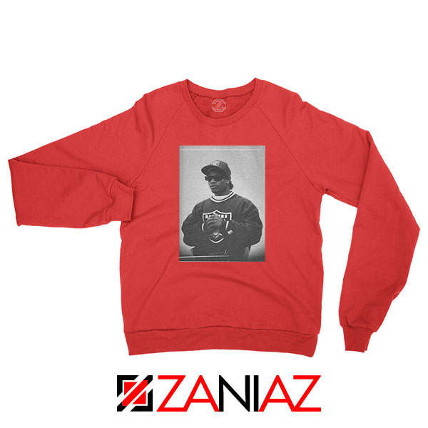 Eazy E Rapper Gameplan Red Sweatshirt