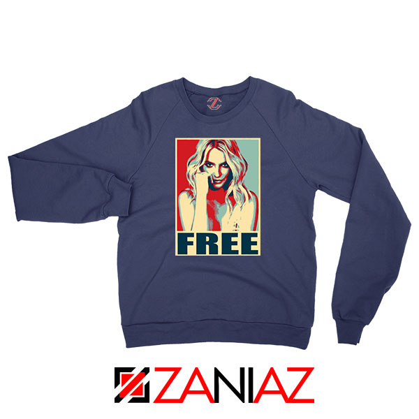 Free Britney Pop Art 2021 Navy Blue Sweatshirt