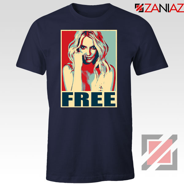 Free Britney Pop Art 2021 Navy Blue Tshirt