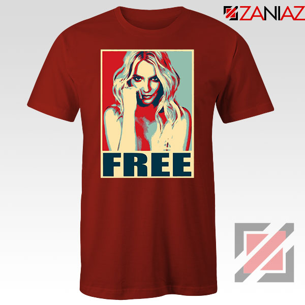 Free Britney Pop Art 2021 Red Tshirt