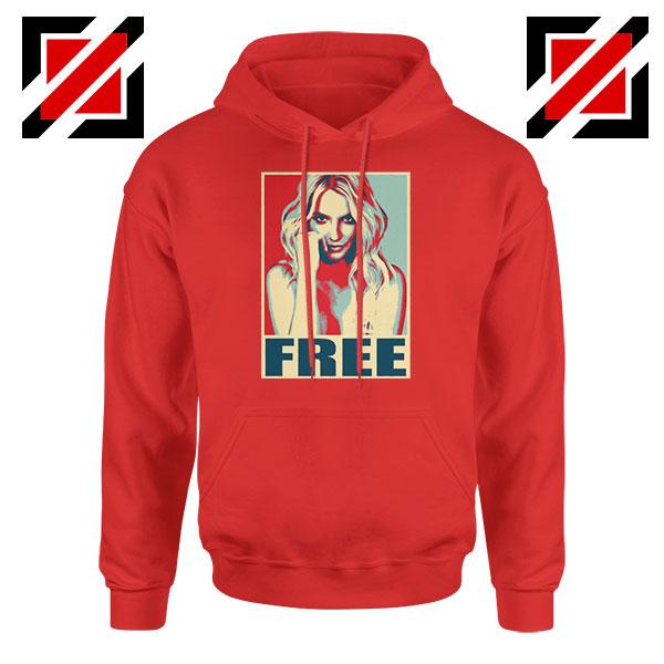 Free Britney Pop Art Cheap Red Hoodie