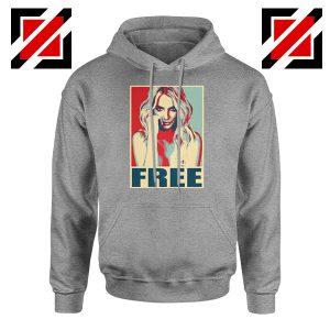 Free Britney Pop Art Cheap Sport Grey Hoodie