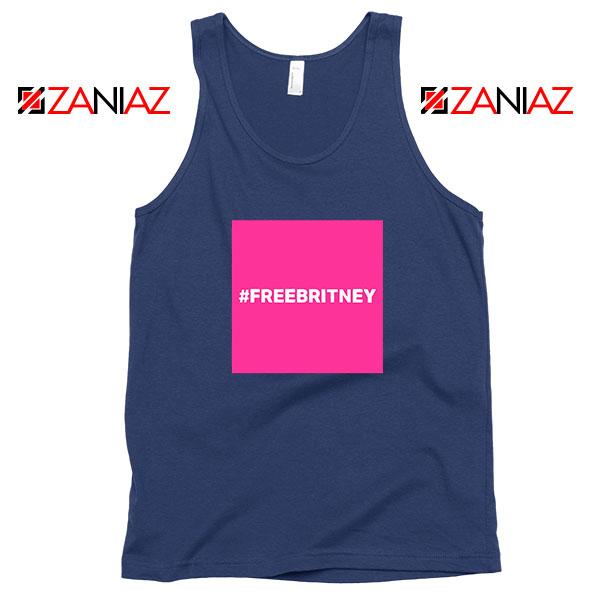 Hashtag Free Britney Best Navy Blue Tank Top