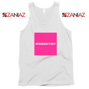Hashtag Free Britney Best White Tank Top
