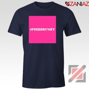 Hashtag Free Britney Singer Navy Blue Tshirt