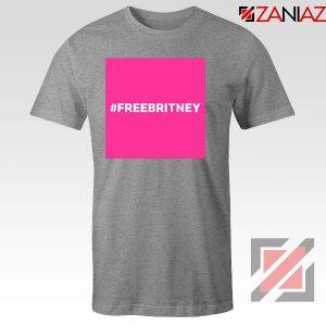 Hashtag Free Britney Singer Sport Grey Tshirt