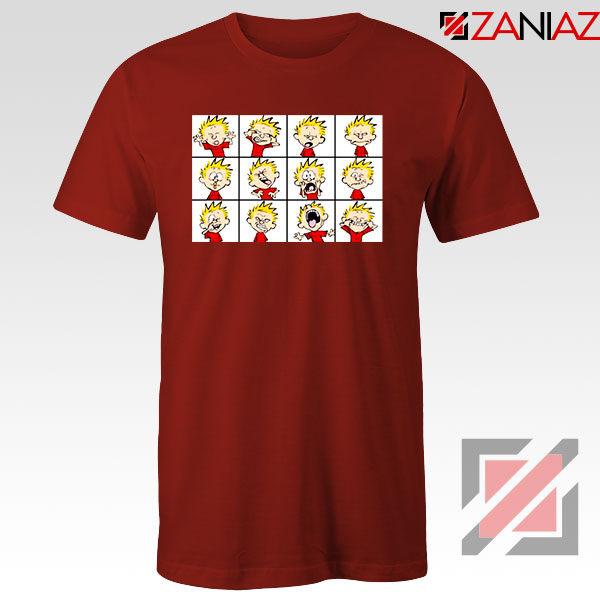 Kinds of Calvin Face 2021 Red Tshirt