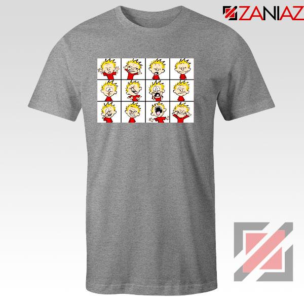 Kinds of Calvin Face 2021 Sport Grey Tshirt