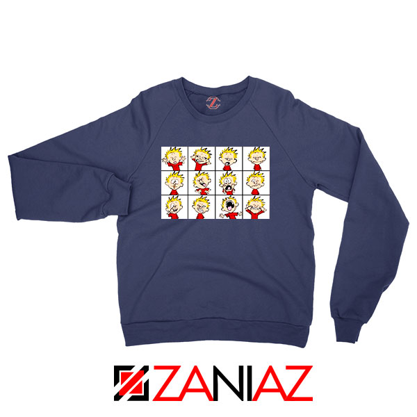 Kinds of Calvin Face Best Navy Blue Sweatshirt