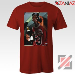 MJ Trophies NBA 2021 Best Red Tshirt