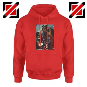 MJ Trophies NBA Best 2021 Red Hoodie