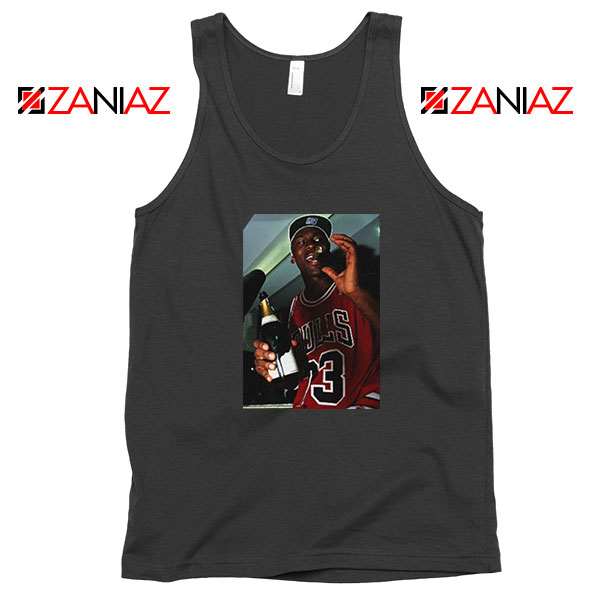 MJ Trophies NBA Best Black Tank Top