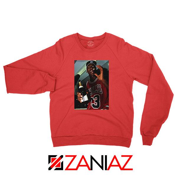 MJ Trophies NBA Best Red Sweatshirt