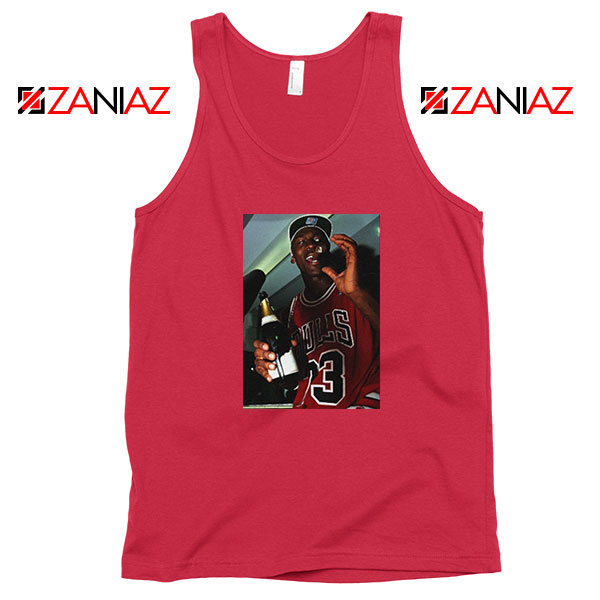 MJ Trophies NBA Best Red Tank Top
