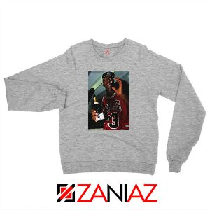 MJ Trophies NBA Best Sport Grey Sweatshirt
