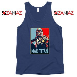 Mad Titan Supervillain Best Navy Blue Tank Top