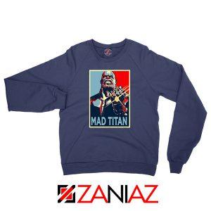 Mad Titan Supervillain Navy Blue Sweatshirt