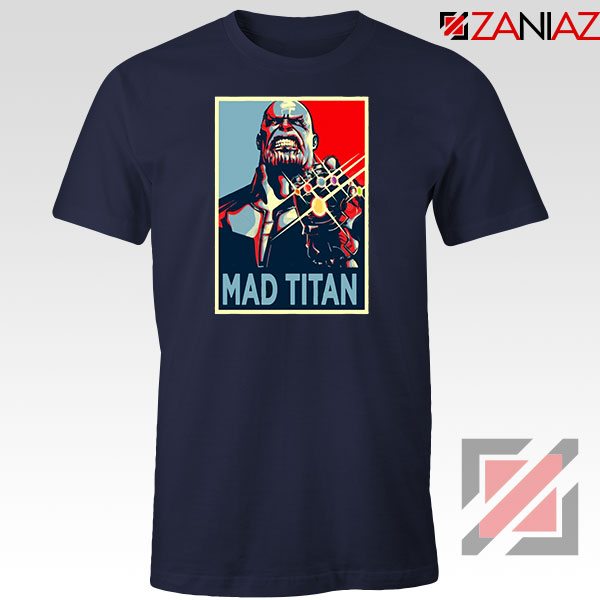 Mad Titan Supervillain Navy Blue Tshirt